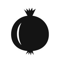 Pomegranate simple icon vector