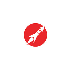 rocket ilustration logo icon template vector image