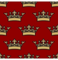 seamless pattern victorian crowns vector image