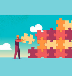 solution and success strategy and puzzle design vector image