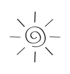 Spiral sun shining sign symbol Swirl shape Thin vector