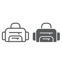 sport bag line and glyph icon sport and baggage vector image