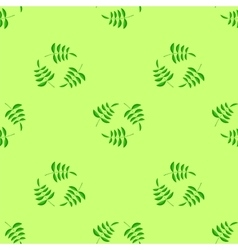 Summer Seamless Leaves Pattern vector image