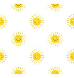 sun cute seamless pattern print sunshine summer vector image