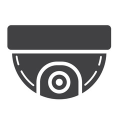 Surveillance camera solid icon cctv and security vector