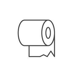 toilet paper linear icon toilet tissue vector image