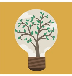 Tree in Bulb vector image