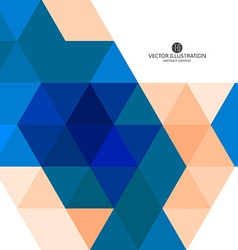 Triangular composition of abstract graphics vector