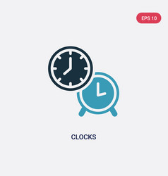 Two color clocks icon from tools and utensils vector