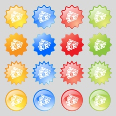 Us dollar icon sign Big set of 16 colorful modern vector image