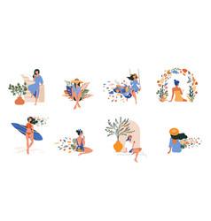vacation mood feminine concept vector image