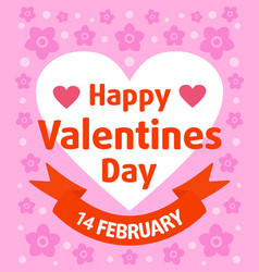 Valentines day background card purple vector