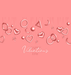 valentines day background with coral hanging vector image