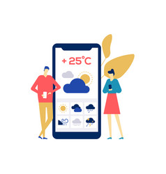 weather concept - colorful flat design style vector image