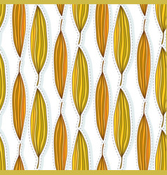 autumn leaves seamless pattern ethnic fabric vector image vector image