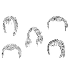 Hair wig vector image