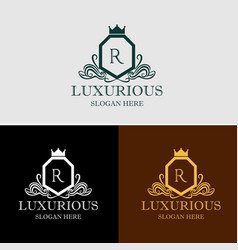 luxurious crest logo vector image