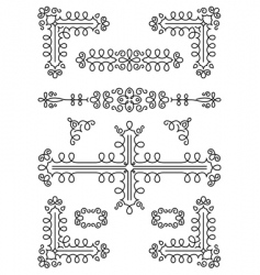 page decorations vector image vector image