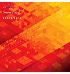 Red Geometric Background vector image vector image