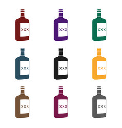 alcohol icon in black style isolated on white vector image