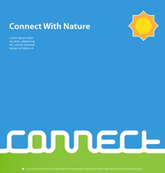 Connect with nature - design template for book or vector image vector image