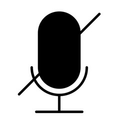 old microphone disabled silhouette icon pictogram vector image vector image