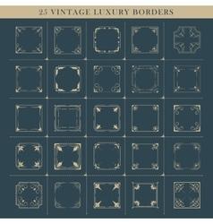 set of retro flourishes calligraphic vintage vector image