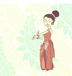 thai traditional dancer vector image