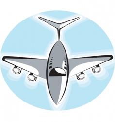 aero plane vector image