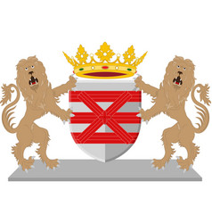 coat of arms of enschede netherlands vector image vector image