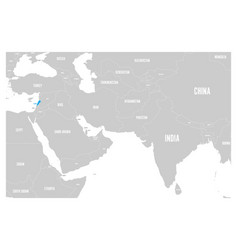 lebanon blue marked in political map of south asia vector image vector image