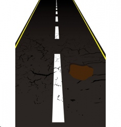 road pot hole vector image vector image