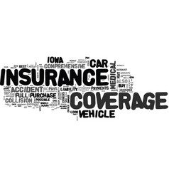 what to look for in a full coverage car insurance vector image vector image