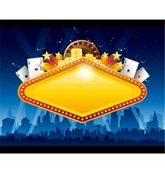 Casino city background vector image vector image