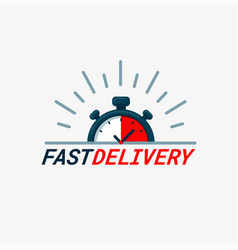 fast delivery logo timer and fast delivery vector image