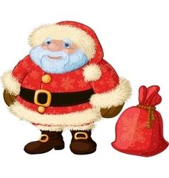 Good chubby Santa vector image vector image