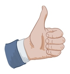 hand sign like vector image vector image