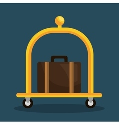 luggage transport service isolated icon vector image