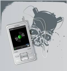 telephone and skull vector image vector image