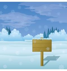 Winter Landscape Sign vector image vector image