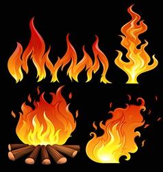 A big fire vector image