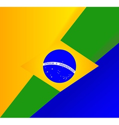 abstract brazilian flag background vector image