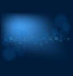 abstract dark blue background with bokeh effect vector image