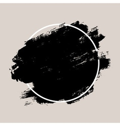 Abstract hand painted textured ink brush vector