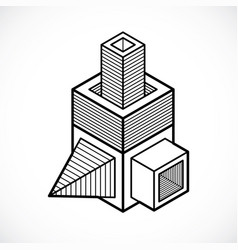 Abstract isometric construction vector