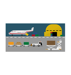 Air cargo delivery transportation freight cargo vector