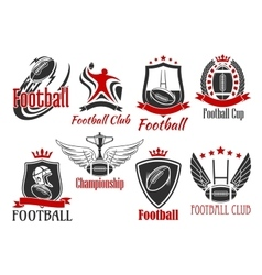 American football heraldic sports badges vector image