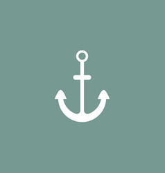 anchor icon simple vector image
