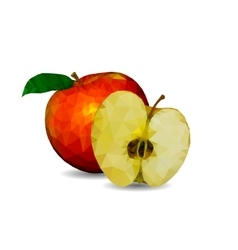 Apple in polygonal graphics vector image