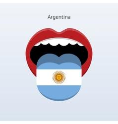 Argentina language abstract human tongue vector